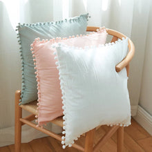 Load image into Gallery viewer, Pink Mini Pompom Cushion - Vida Style