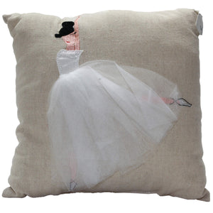 Ballerina White Tutu Cushion