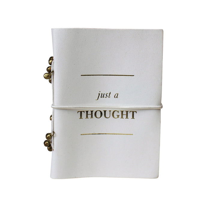 Luxe 'Just a Thought' Leather Notebook - Vida Style