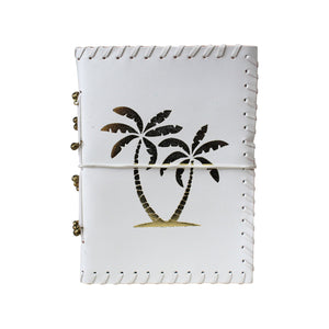 Luxe Gold Palms Leather Notebook - Vida Style