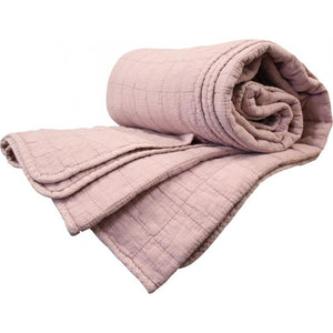 Dusty Pink Quilted Throw