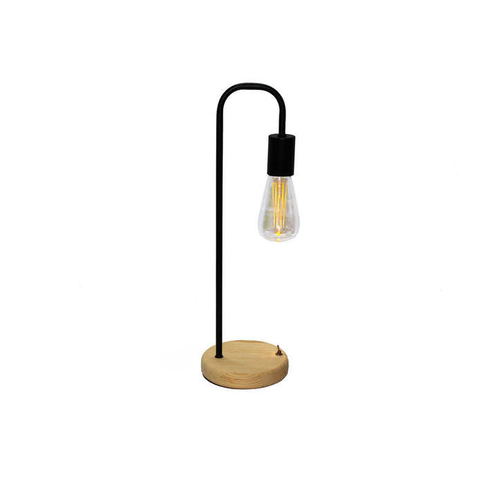 Black Cable Free Table Lamp