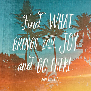 'Find What Brings You Joy and Go There' Journal - Vida Style