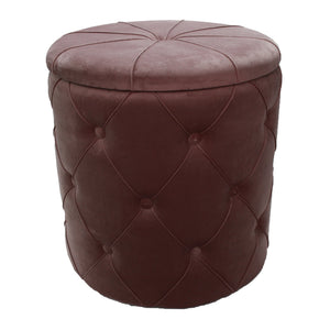 Luxe Dusty Lilac Tufted Velvet Storage Ottoman - Vida Style