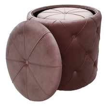 Load image into Gallery viewer, Luxe Dusty Lilac Tufted Velvet Storage Ottoman - Vida Style