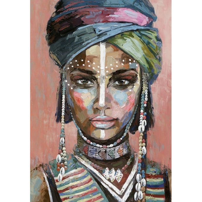 Luxe Tribal Woman Canvas - 100x80