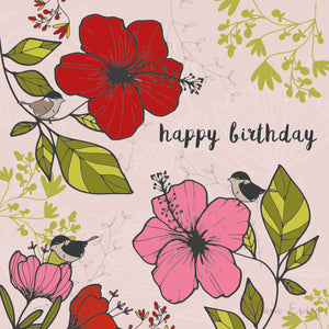 HAPPY BIRTHDAY - Floral