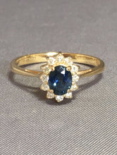 Load image into Gallery viewer, Sapphire & Diamond Ring