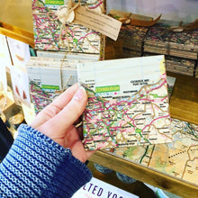 Load image into Gallery viewer, SET OF 4 WOODEN EDINBURGH MAP COASTERS