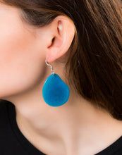 Load image into Gallery viewer, Handmade Tagua Nut Folha Slice Earring with Sterling Silver Hooks
