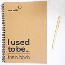 Load image into Gallery viewer, Stationery Set: Recycled Notebook and Refillable Bamboo Pen