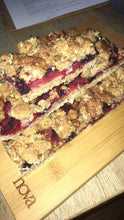 Load image into Gallery viewer, Apple and Berry Crumble Slice (Vegan)