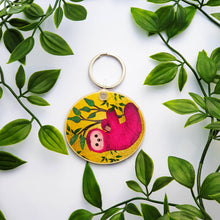 Load image into Gallery viewer, Pink Sloth Keychain
