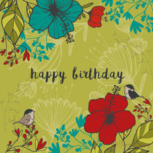Load image into Gallery viewer, HAPPY BIRTHDAY - Floral Green