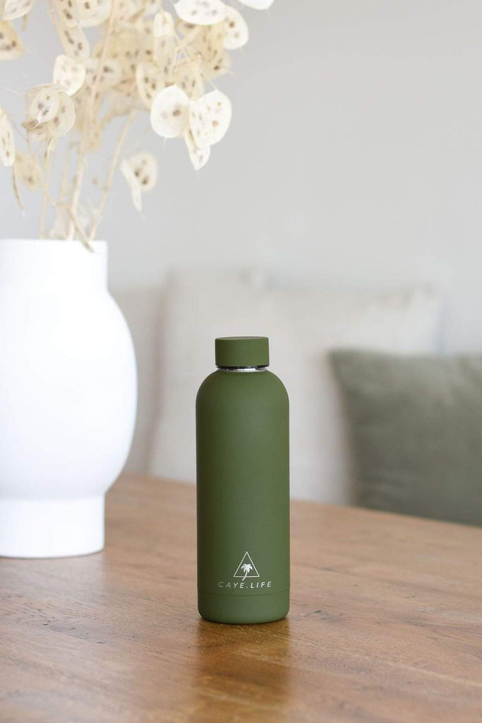 Galapagos | Insulated Water Bottle 750ml | Matte Green