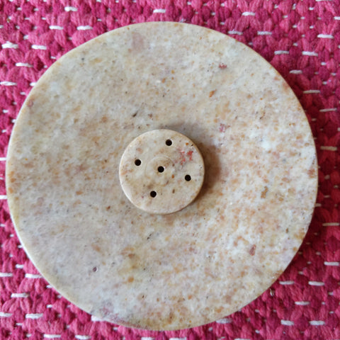 Marble Incense holder round