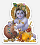 Baby Krishna Sticker - thick, waterproof and durable!