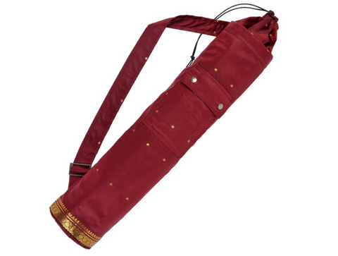 Yoga mat bag Saree style  (Burgundy)