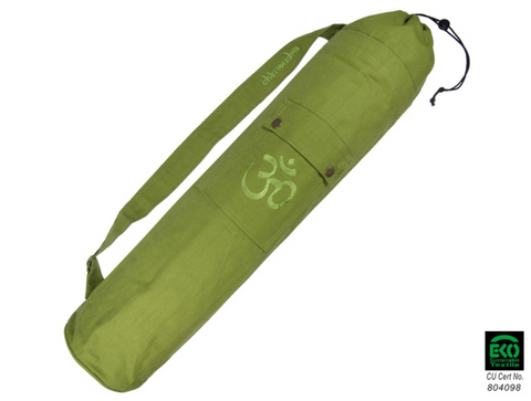 Yoga mat bag with OM (Green)