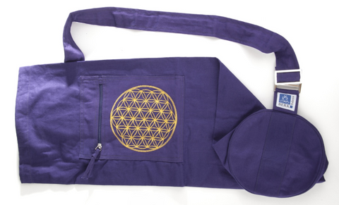 Yoga mat bag with flower of life (Violet)