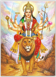 Durga Light Background Extra Thick Postcard