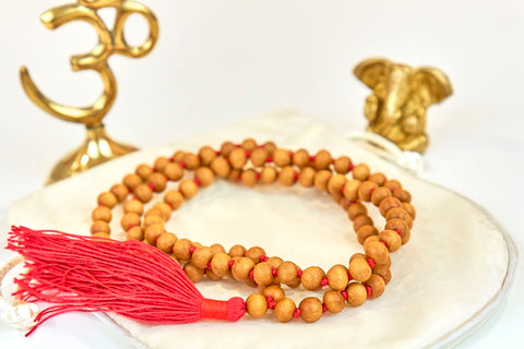 Sandalwood mala (7mm beads)