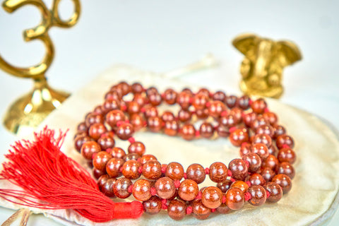 Red Sandalwood mala (8mm beads)