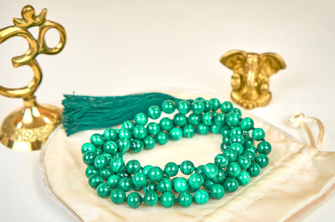 Malachite Mala (8mm beads)