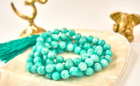 Amazonite Mala (perles 8 mm)