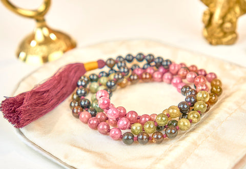 Multicolor Turmaline Mala (6mm beads)