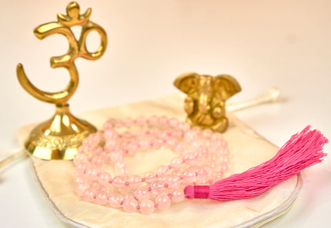 Rose quartz mala (6mm beads)