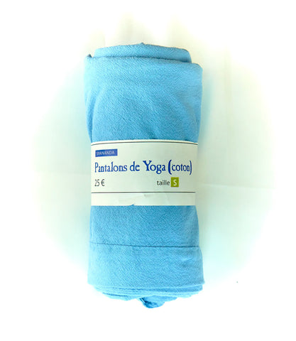 100% Cotton Yoga Pants (Light blue)