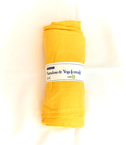 100% Cotton Yoga Pants (Sunflower Yellow)