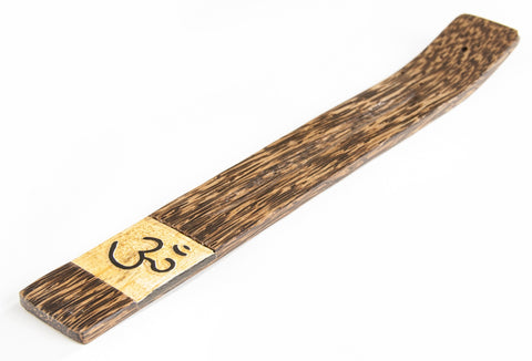 Wooden incense holder OM