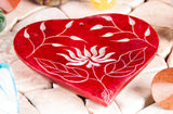 Soapstone holder - Heart lotus flower