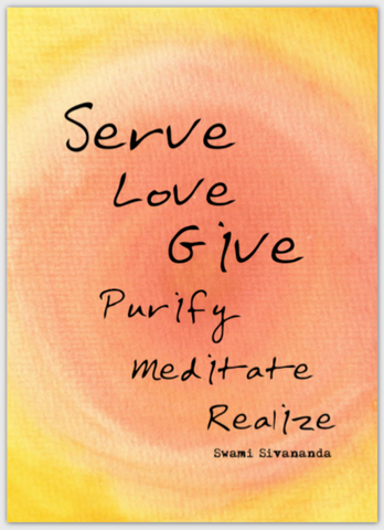 Serve Love Give Postcard (Large)