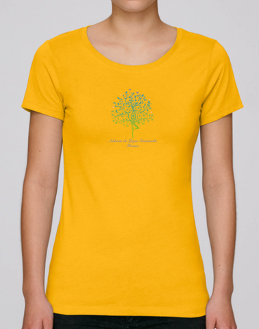 100% Organic Cotton Yellow Women's T-shirt (Ashram Tree)