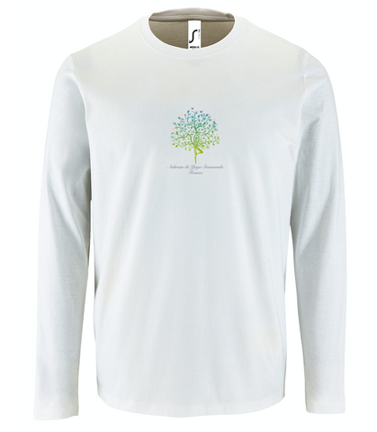 NEW! Unisex Standard Cotton Long Sleeve White T-shirt - Ashram Tree