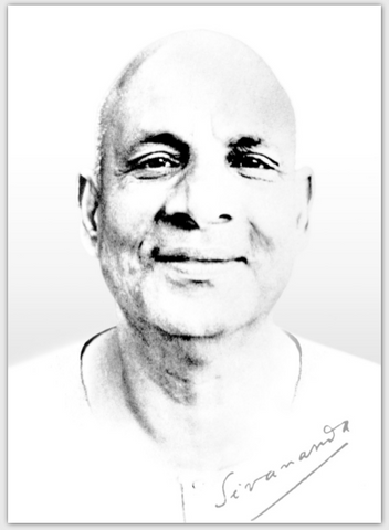 Swami Sivananda Black and White Extra ThickPostcard