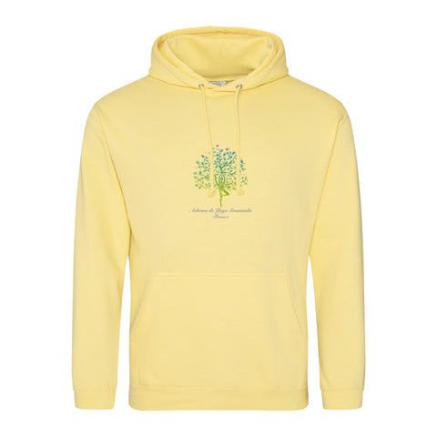 NEW! Unisex Hoodie Sweatshirt with Ashram Tree - Yellow