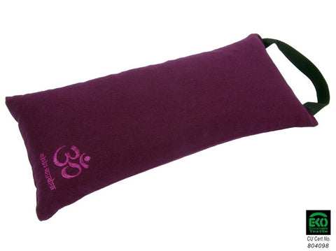 100% Organic cotton Travel meditation cushion 44 x 19 x 10cm