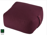 100% Organic cotton Squared Travel Meditation Cushion 24 x 24 x 14 cm