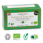 100% Organic Ayurvedic Cinnamon & Ginger Spice Herbal Tea - Kapha Blend
