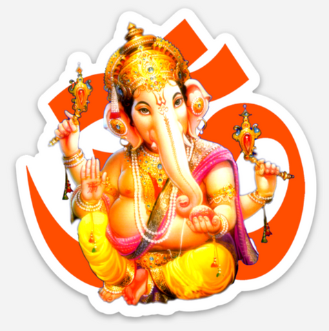 Ganesha Sticker - thick, waterproof and durable!