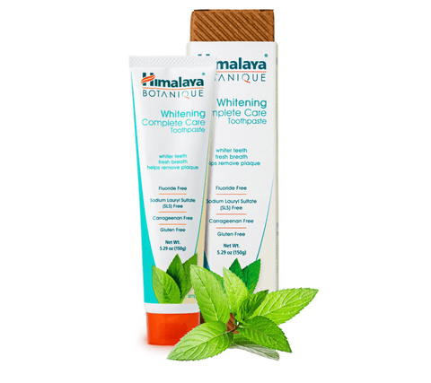 Himalaya Botanique Whitening Complete Care Simply Mint Toothpaste - No Fluoride, 5.29 oz (150 g)