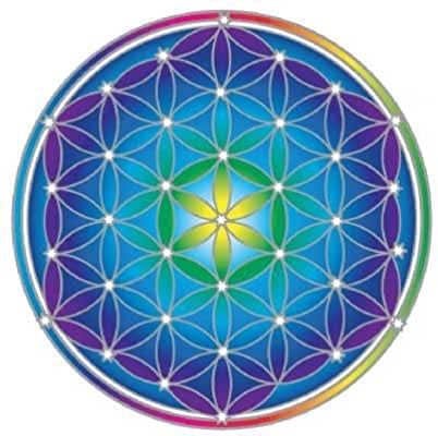 Sunseal Mandala Sticker - Flower of Life Mandala (20cm × 15cm)