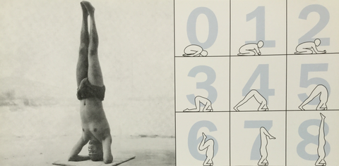 8 Steps Headstand Postcard