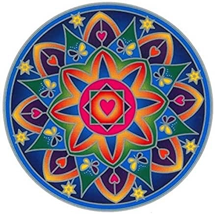 Sunseal Mandala sticker - Love Light Mandala (20cm × 15cm)