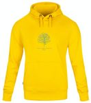 Yellow Unisex Organic Hoodie Sweatrshirt with Ashram Tree