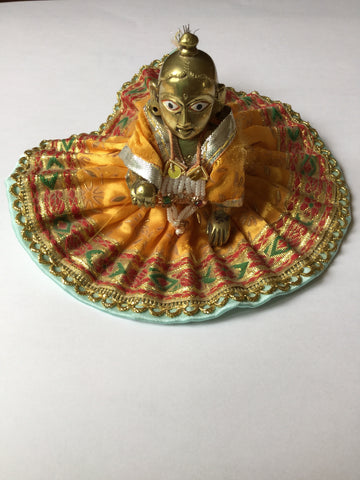 Statue of Baby Krishna with clothes, 9cm